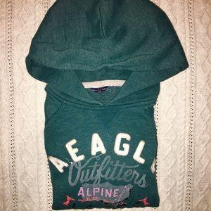 AE green hoodie